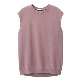 ジーユー(GU)のGU/ジーユー☆オーバーサイズウッシュドT パープル Mサイズ くすみピンク(Tシャツ(半袖/袖なし))