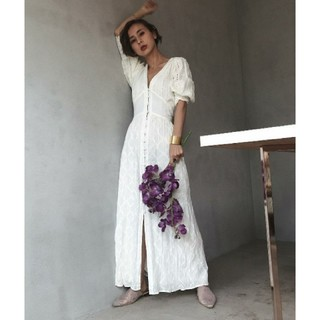 Ameri VINTAGE - アメリヴィンテージ CRUMPLE COTTON LACE DRESS