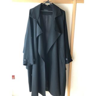 Yohji Yamamoto - Wool Gabardine Big Lapel Over TrenchCoat