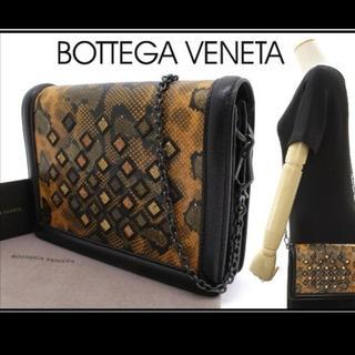Bottega Veneta - 定価45万、完売品!新品ボッテガヴェネタ スネークスキンチェーンバッグ/クラッチ