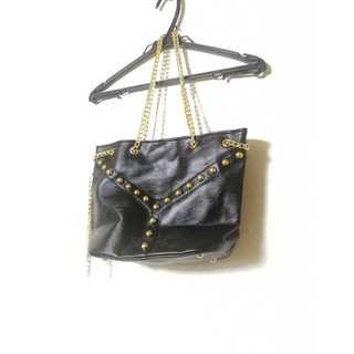 【新品・未使用】レディース ハンドバッグ レザー 革 ブラック 送料無料(ハンドバッグ)