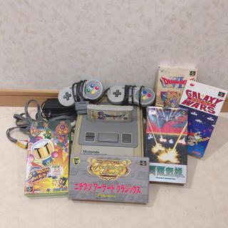 任天堂 - スーパーファミコン 本体 カセット ドラゴンクエスト 雷電伝説 ボンバーマン