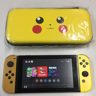 Nintendo Switch - Nintendo Switch 任天堂スイッチ本体 ピカチュウ ケース 訳あり