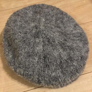 アースミュージックアンドエコロジー(earth music & ecology)のアース ベレー帽 グレー 未使用タグ付き(ハンチング/ベレー帽)