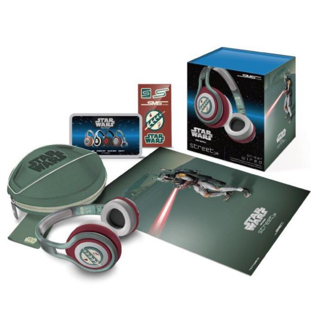 Disney(ディズニー)のSMS Audioのヘッドホン STARWARSの「ボバ・フェット」モデル スマホ/家電/カメラのオーディオ機器(ヘッドフォン/イヤフォン)の商品写真