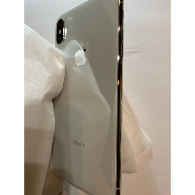 Apple(アップル)のiPhone XS MAX  silver 256GB スマホ/家電/カメラのスマートフォン/携帯電話(スマートフォン本体)の商品写真