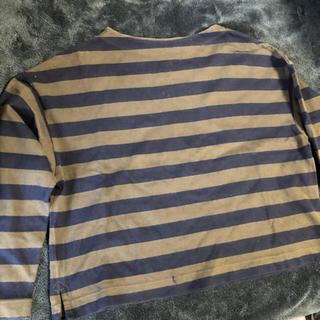 ユニクロ(UNIQLO)のユニクロ オーバーサイズ ボーダー ロングTシャツ (Tシャツ(長袖/七分))
