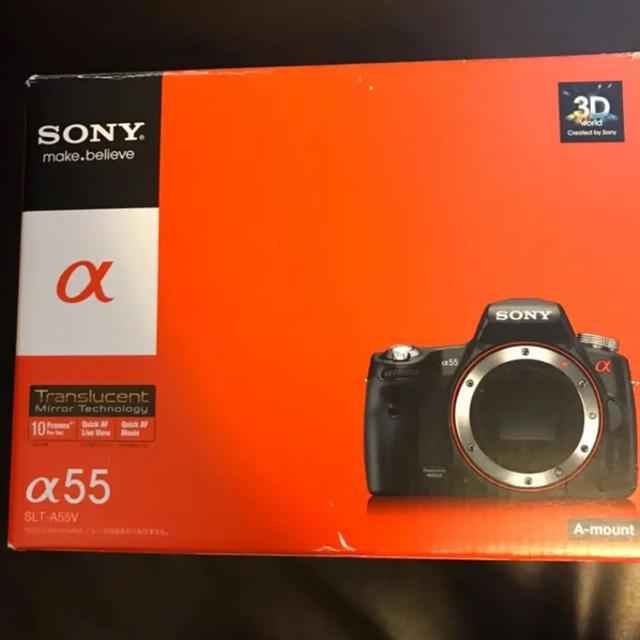 SONY(ソニー)のSONY デジタル一眼カメラ SLT-A55V スマホ/家電/カメラのカメラ(デジタル一眼)の商品写真