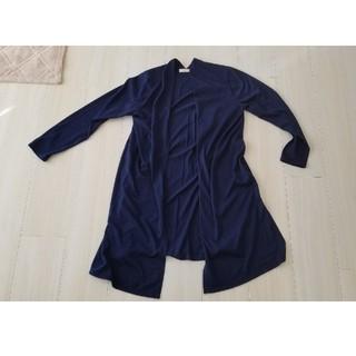 ショコラフィネローブ(chocol raffine robe)の春向け☆ショコラフィネローブ☆カットソーロングカーディガン紺F(カーディガン)