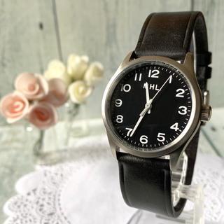 マーガレットハウエル(MARGARET HOWELL)の【動作OK】MHL. マーガレットハウエル 腕時計 シルバー ブラック(腕時計)