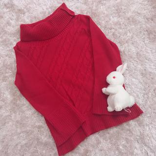 サンタモニカ(Santa Monica)の本日限定 レア strawberry color knit(ニット/セーター)
