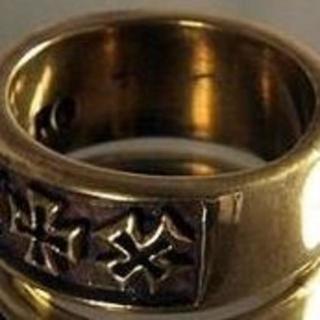 真鍮リング★ローリング・アイアンクロス★IRON CROSS★21号★残1(リング(指輪))