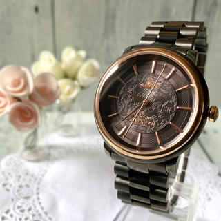 Vivienne Westwood - 【美品】ヴィヴィアン 腕時計 VV196GNGN オーブ ブラック ボーイズ