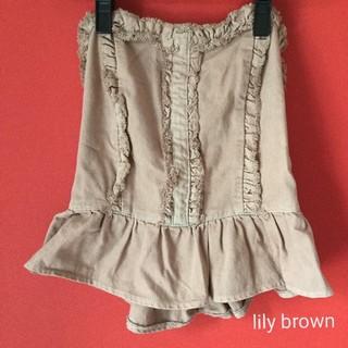 リリーブラウン(Lily Brown)のLily Brown デニム ベアトップス(ベアトップ/チューブトップ)
