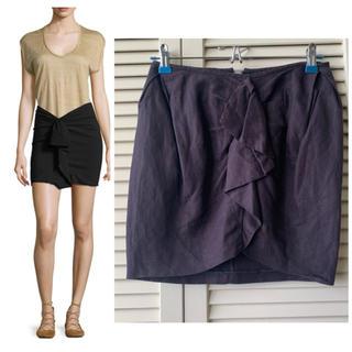 イザベルマラン(Isabel Marant)のイザベルマラン リネン ラッフル ミニスカート 4.1万(ミニスカート)