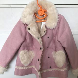 Souris - ★新品未使用★スーリー♡ピンクのモコモコムートン風コート120