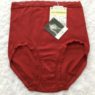 ワコール(Wacoal)のワコール 赤のショーツ あったか天綿  Lサイズ(ショーツ)