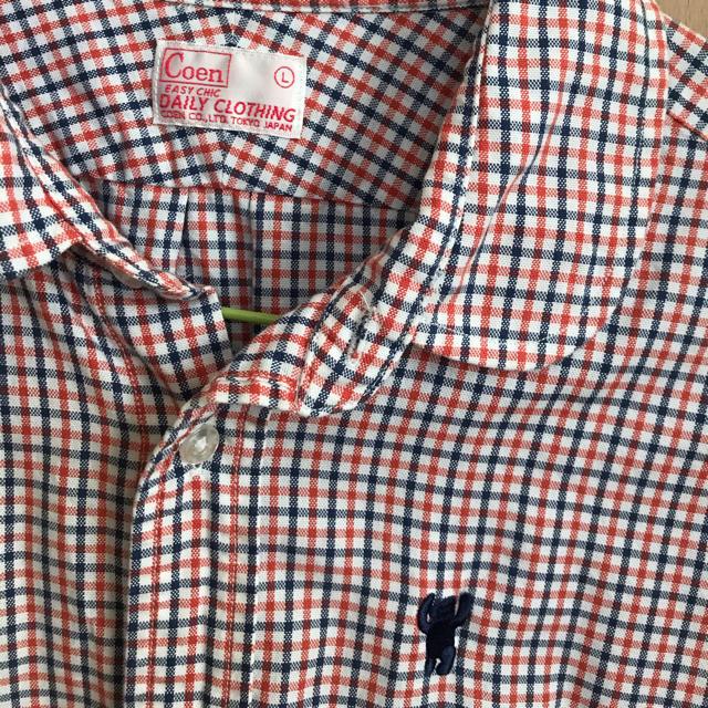 coen(コーエン)のcoen★赤チェックシャツL レディースのトップス(シャツ/ブラウス(長袖/七分))の商品写真