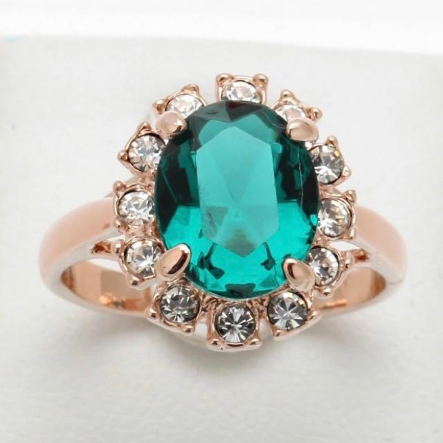 グリーンCZダイヤモンドリング 指輪 レディースのアクセサリー(リング(指輪))の商品写真
