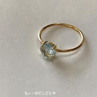 宝石質スカイブルートパーズ リング☆*:.。. (リング(指輪))