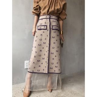 Ameri VINTAGE - 新品タグ付 アメリヴィンテージ パスコードレトロニットスカート