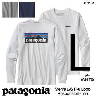 patagonia - 新品 L パタゴニア ロングスリーブ P6 ロゴ 長袖 Tシャツ 白 ロンT長