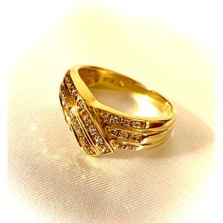 ★K18 メレダイヤ デザイン リング★(リング(指輪))