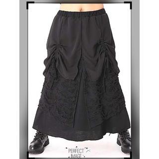 ファンキーフルーツ(FUNKY FRUIT)のシフォンフラップ*ZOMBIE重ねロングスカート(ロングスカート)