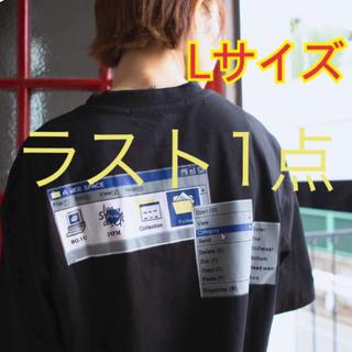 志田愛佳着用モデル ルーズシルエット レトリックPC画面Tシャツ 黒(Tシャツ(半袖/袖なし))