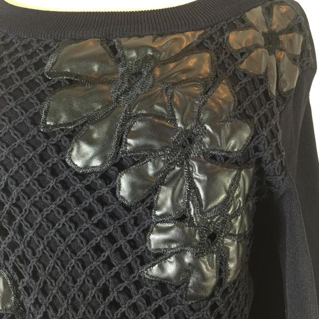 EPOCA(エポカ)のエポカ EPOCA 長袖カットソー ブラック サイズ40 レース 花柄 上品 レディースのトップス(ニット/セーター)の商品写真