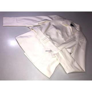 クイーンズコート(QUEENS COURT)の582クイーンズコート◆ジャケット コート 上着 白系 2号Mサイズ ベルト付き(その他)
