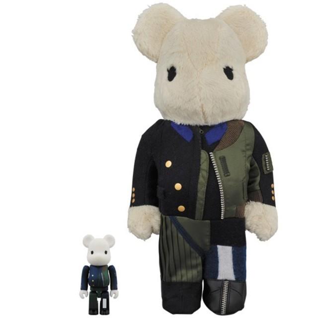 MEDICOM TOY(メディコムトイ)のベアブリック サカイ 100% & 400% エンタメ/ホビーのおもちゃ/ぬいぐるみ(キャラクターグッズ)の商品写真