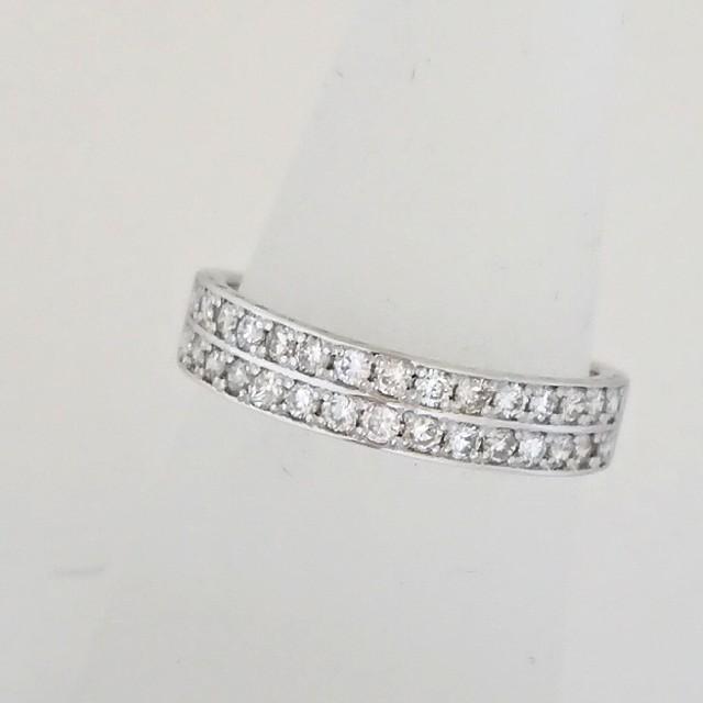 PT900 2連 ダイヤモンド エタニティリング レディースのアクセサリー(リング(指輪))の商品写真
