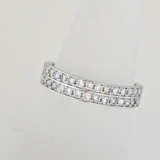 PT900 2連 ダイヤモンド エタニティリング(リング(指輪))