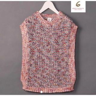 ビューティアンドユースユナイテッドアローズ(BEAUTY&YOUTH UNITED ARROWS)の求 roku mix knit vest(ニット/セーター)