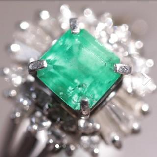 トクトクジュエリー エメラルド ダイヤモンド プラチナ リング(リング(指輪))