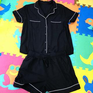 GU - 半袖パジャマセット(黒)