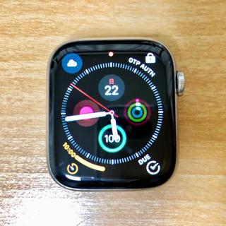 アップルウォッチ(Apple Watch)のApple Watch シリーズ4 シルバー ステンレス 44mm(その他)