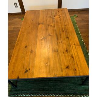 ムジルシリョウヒン(MUJI (無印良品))の大幅値下げ 杉材とアイアン脚 オーダー ローテーブル(ローテーブル)