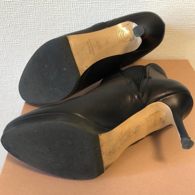UNITED ARROWS(ユナイテッドアローズ)のcorso rome9コルソローマ黒ブーティーショートブーツ35ハーフ レディースの靴/シューズ(ブーティ)の商品写真
