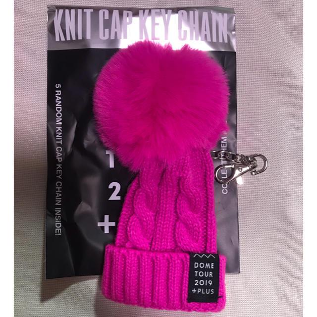 AAA(トリプルエー)のAAA  ドームツアーグッズ ニット帽キーホルダー桃  エンタメ/ホビーのタレントグッズ(アイドルグッズ)の商品写真