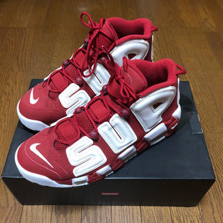 シュプリーム(Supreme)のSupreme Nike Air More Uptempo 28.5cm Red(スニーカー)