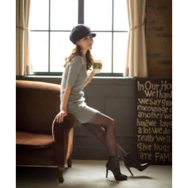 snidel(スナイデル)のアンゴラ混ハイネックニットワンピ casablanica レディースのトップス(ニット/セーター)の商品写真