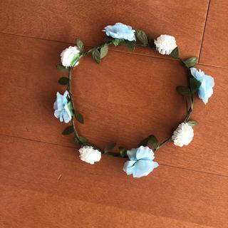 ウィゴー(WEGO)の花柄 カチューシャ ブルー かんむり(カチューシャ)