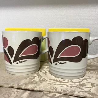 ルクルーゼ(LE CREUSET)のLE CREUSET ル・クルーゼ ピンク ピーコック マグカップ(食器)