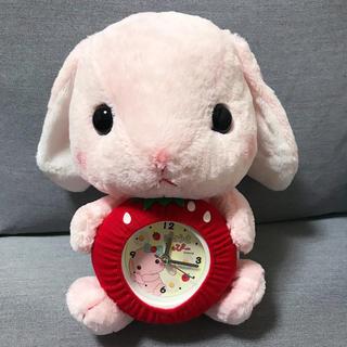 【新品】ぽてうさろっぴー ぬいぐるみ時計