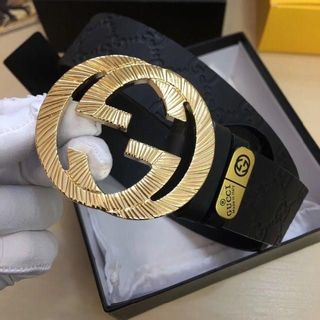 Gucci - グッチ 411924 CWC1N GGシマ シグネチャー ベルト Black