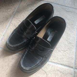 ハルタ(HARUTA)の中古!ハルタHARUTA女子高生JK黒ローファー靴(ローファー/革靴)