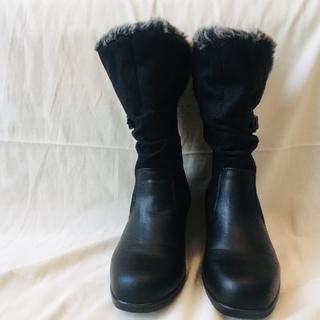 黒 ブーツ グレーファー レディース 23cm (ブーツ)
