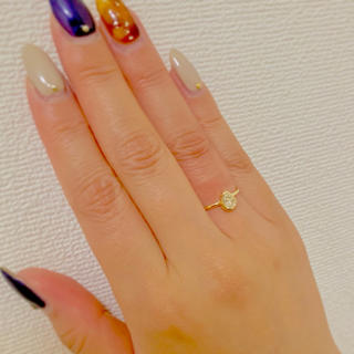 1日限定お値下げ ペアシェイプ K18YG ダイヤモンドリング(リング(指輪))